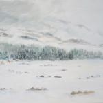 Snöljus-akvarell55x35cm