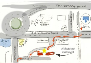 map of alvikstorpet